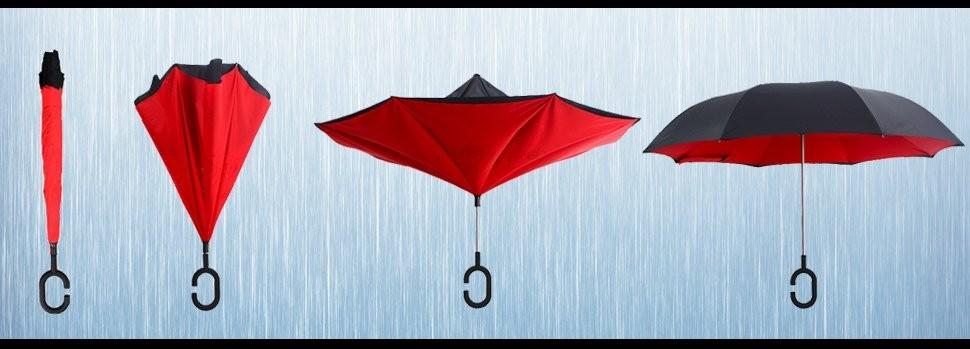 Reverse Opening Umbrella